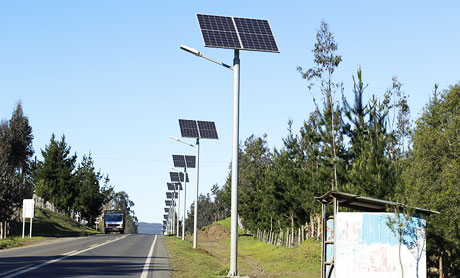 Application of solar street lights in new rural areas